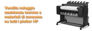 Vendita noleggio assistenza plotter HP